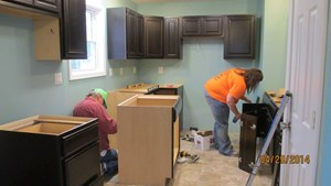 Habitat for Humanity of Cass and Schuyler Counties, Inc., Cabinets installed!